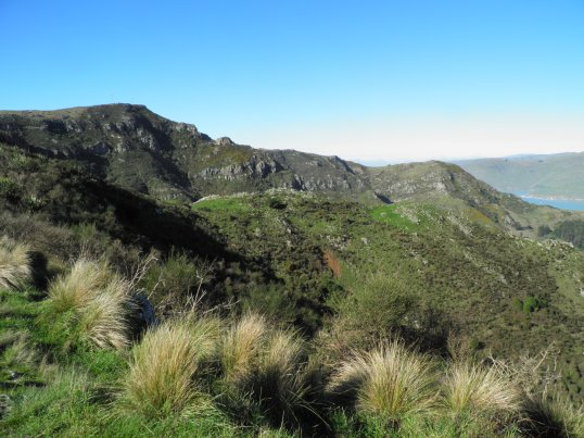 Hiking the crater rim to the top of the gondola