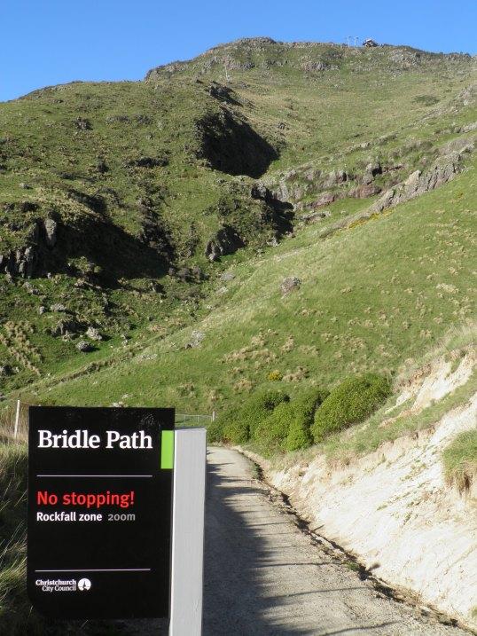 Rockfall zone below Mount Cavendish