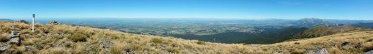 Canterbury Plains from Mt Oxford summit