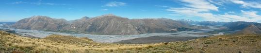 Mt Hutt range from the summit