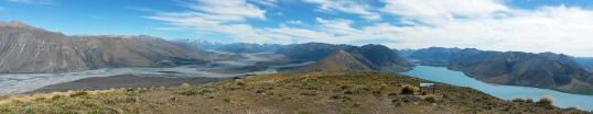 Looking towards the Southern Alps from the summit