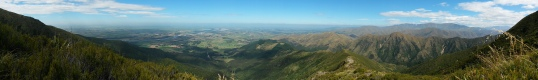 Panorama from the South Ridge track