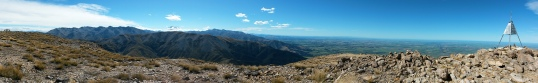Mt Somer's Trig panorama