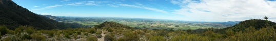 Panorama from the Mt Somer's (south face) track