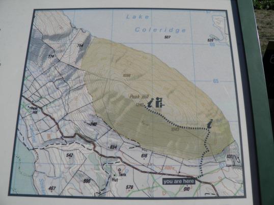 Peak Hill track map