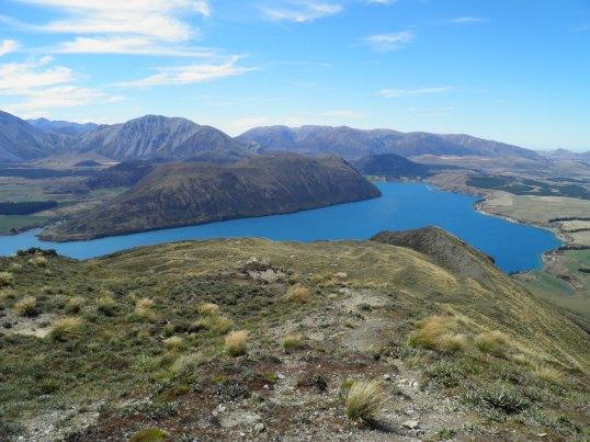 Lake Coleridge on the ascent