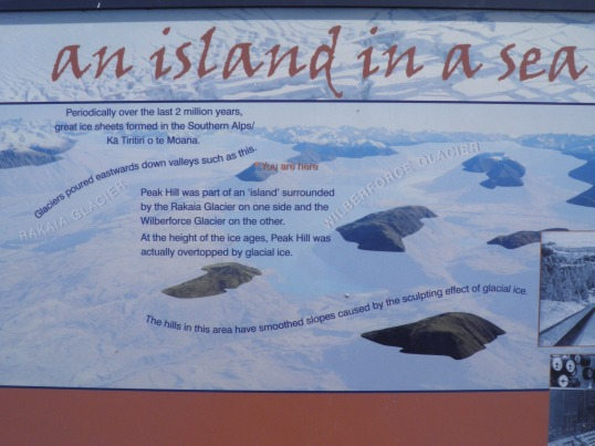 Information board at the summit