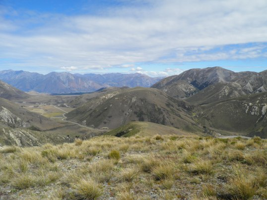 Looking towards the Rakaia river valley in the distance