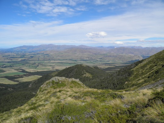 View from the lower slope of Mt Somers