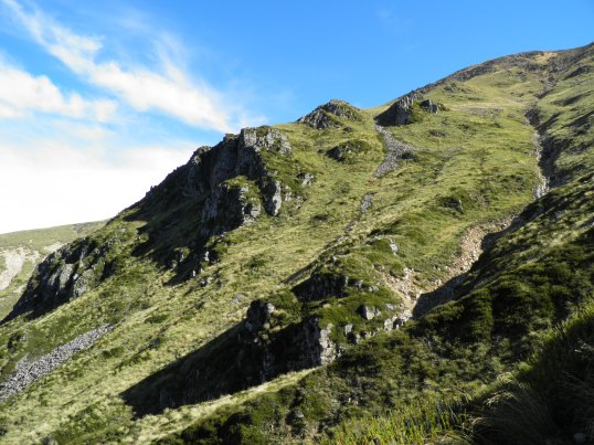 Rocky slope of Mt Somers