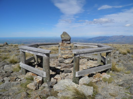 Monument at the summit