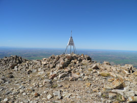 Mt Somer's Trig overlooking Canterbury Plains