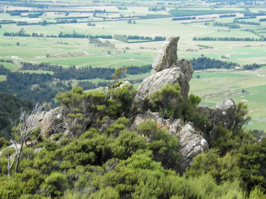 Rock formation above the Canterbury Plains