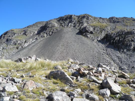Avalanche Peak's scree field