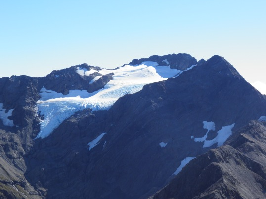 The glacier on nearby Mt Rolleston