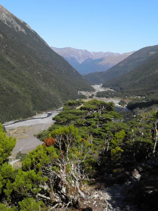 Arthur's Pass village in the valley