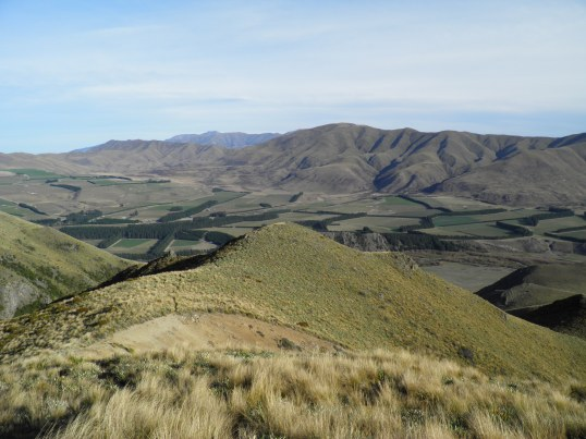 Descending towards the false summit