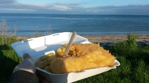 Fish and chips by the beach