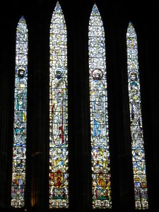 Stained glass window, Glasgow Cathedral