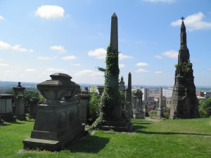 Gravestones in Glasgow Necropolis