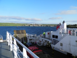 Arriving at St Margaret's Hope on South Ronaldsay