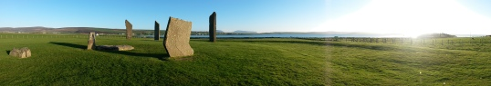 Standing Stones of Stenness panorama