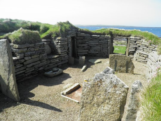 Inside the small house at Knap of Howar