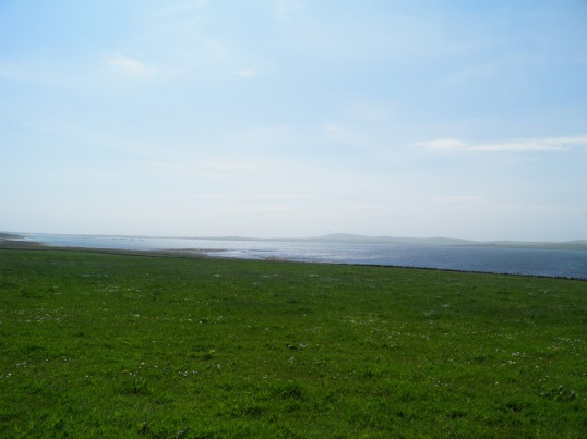 Looking across Papa Sound to Westray