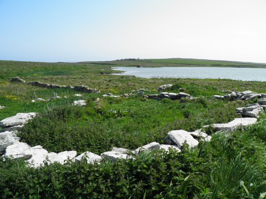 Remains next to Loch of St Tredwell