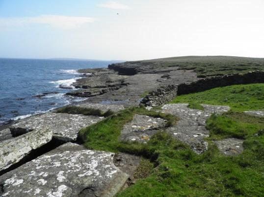 Flagstone rock coastline