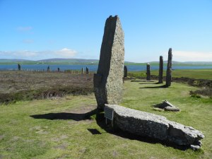 Stone split by lightning at Ring of Brodgar