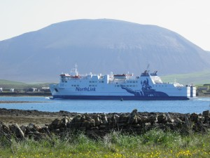 Northlink ferry leaving Stromness