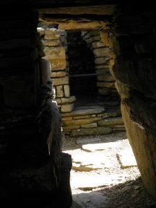 Inside the wall of the broch