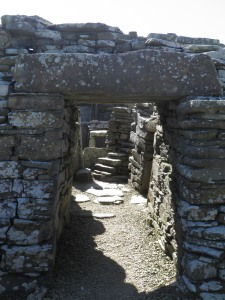 Doorway to the broch