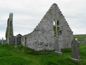 Church ruins at Faraid Head
