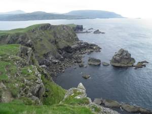 Faraid Head coastline with Cape Wrath behind