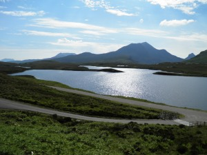 Lochan an Ais viewed from Knockan Crag