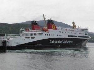 Caledonian MacBrayne's MV Loch Seaforth berthed at Ullapool
