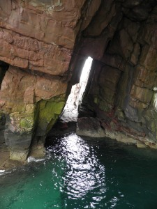 Inside the seacave