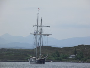 Frigate moored at Tanera Mor