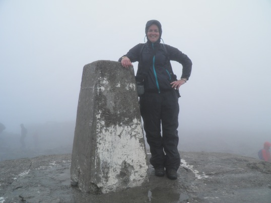 At the summit of Ben Nevis