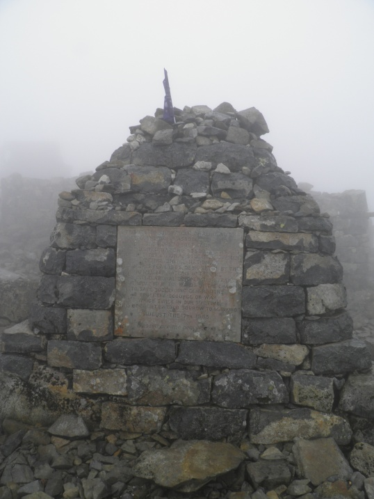 Cairn with plaque