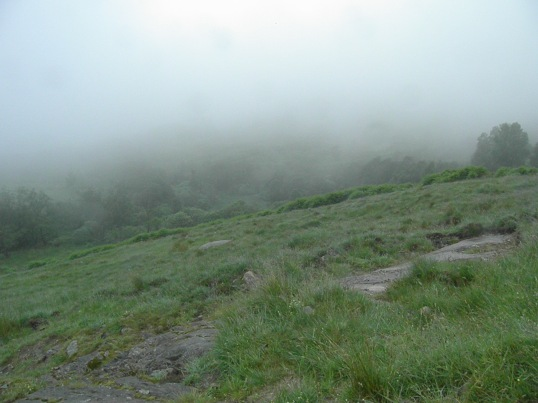 Looking down towards the hidden Loch Lomond