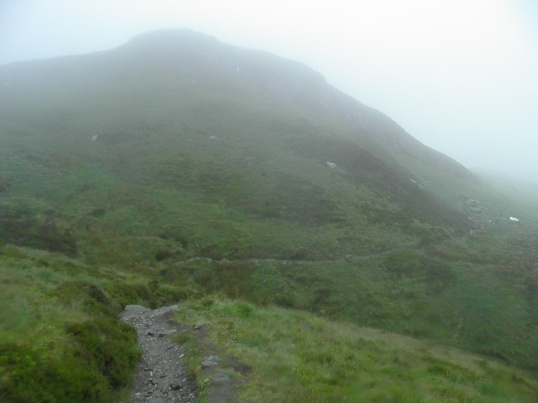 Following the Ptarmigan Route down the face of Ben Lomond
