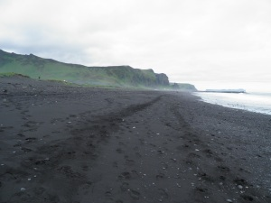 Black sand of Vik beach