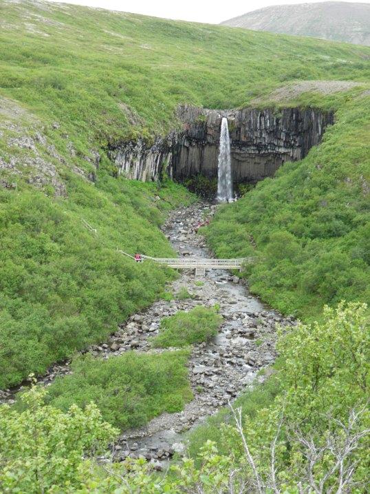 Looking upstream towards Svartifoss