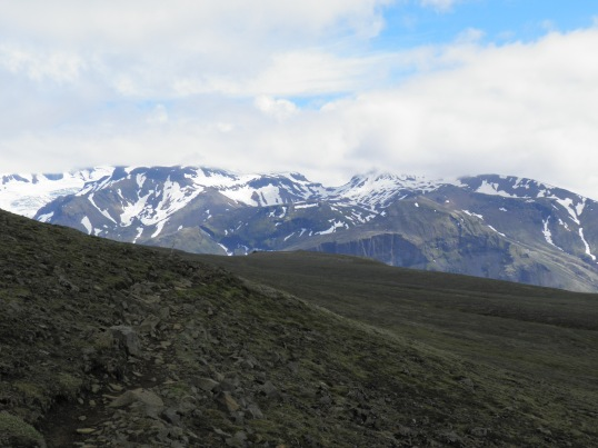 Looking east to the mountains of Hafrafell