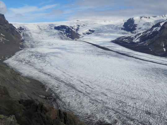 The top of Skaftafell glacier