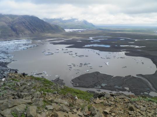 Skaftafellsjökull terminal lake