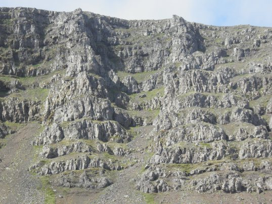 Cliff face next to the ring road
